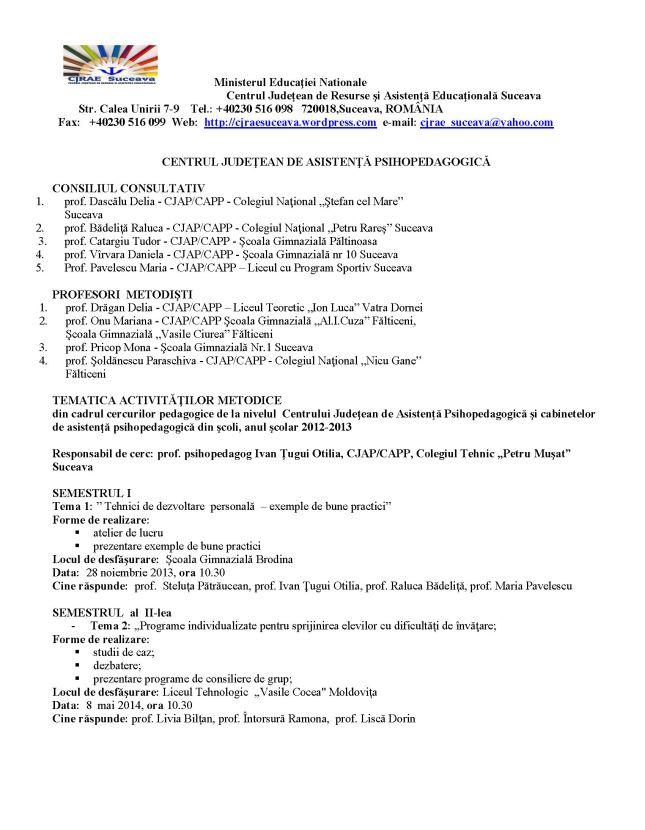 consiliul consultativ CJAP Suceava