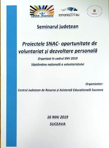 Proiectele SNAC – oportunitate de voluntariat și dezvoltare personală (1)